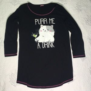 Martini and kitty nightshirt for ladies